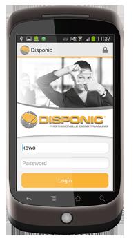 Die DISPONIC Android App