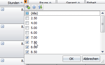 Smarte Filter in den Auswertungen