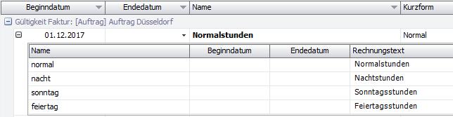 Reihenfolge der Abrechnungsmodell Positionen in der Schnellerfassung Preise in DISPONIC.